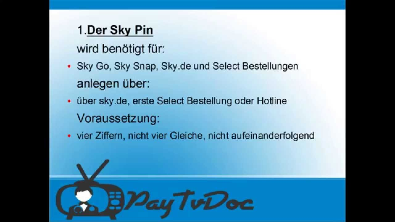 Sky Jugendschutz Pin Deaktivieren