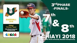 🔴ᴴᴰ世大棒::FINALS 7-8名:: AUS vs HKG::2018 FISU WORLD UNIVERSITY BASEBALL CHAMPIONSHIP