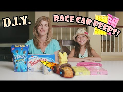 RACE CAR PEEPS! Yummy DIY Easter Activity in 4K!