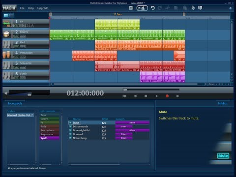Trance and Techno Magix Music Maker free trial Part 3