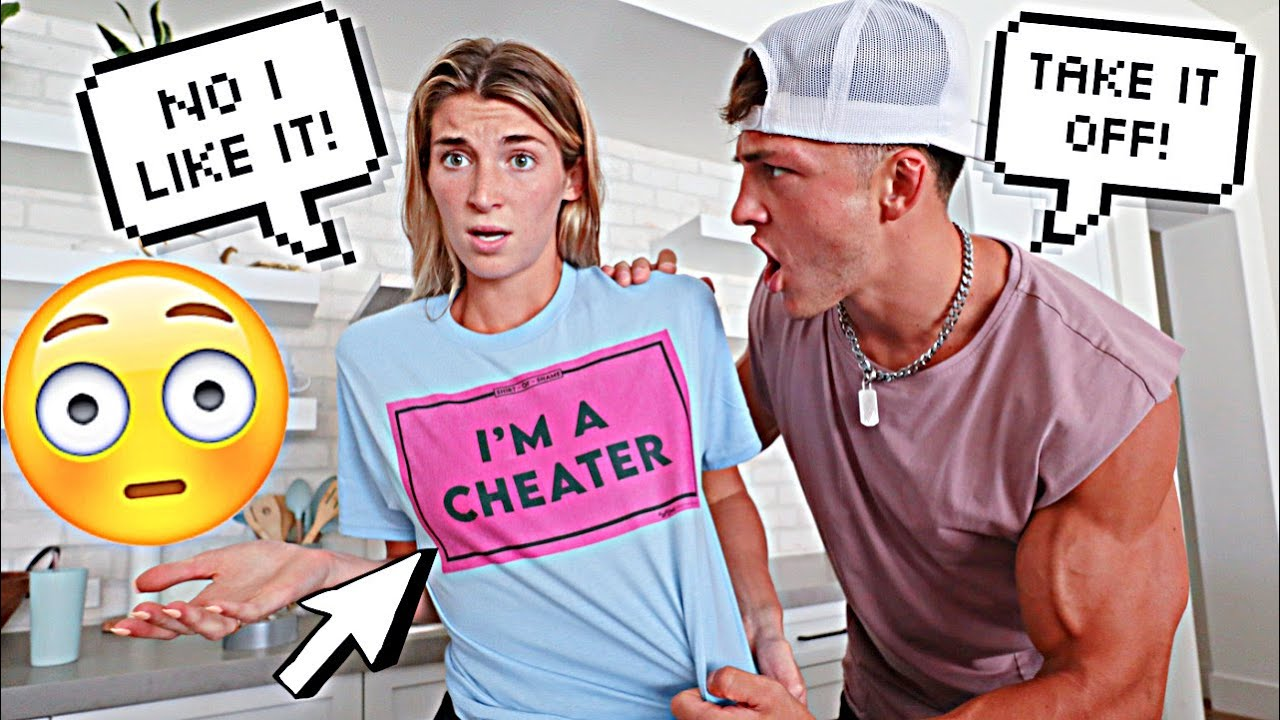 """Wearing a """"I CHEATED"""" Shirt to See How My Husband Reacts!"""
