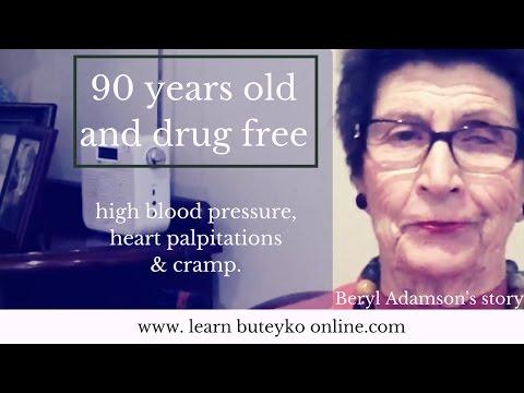 Learn Buteyko Testimonial - Beryl. Heart palpitations, cramp, high blood pressure.