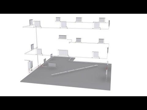 Двухтрубное отопление (схема)