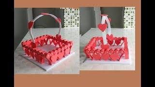 Ideias para o dia dos namorados fácil Diy dia dos namorados cesta corações