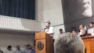Anibal Torretta acto desagravio a Augusto Timoteo Vandor CGT (27/11/2012)