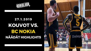 Kouvot vs BC Nokia Näädät Highlights 27 1 2019