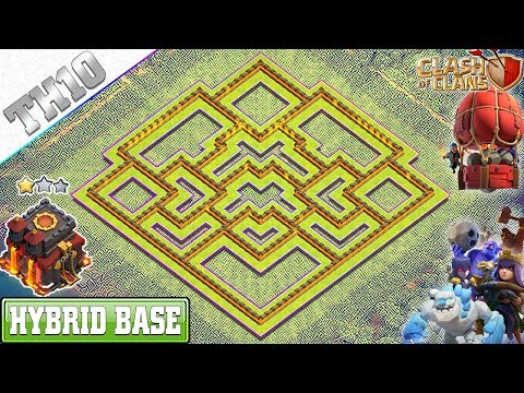 NEW BEST TH10 Base 2019 with REPLAY | TH10 HYBRID Base with COPY LINK - Clash of Clans