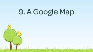 9. A Google Map