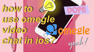 HOW TO USE OMEGLE VIDEO CHAT ON IOS!