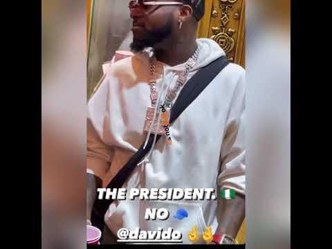 NEWS: Davido Says He's The President Of Nigeria ??