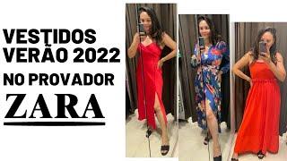VESTIDOS TENDÊNCIAS VERÃO 2022 NO PROVADOR DA ZARA
