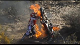 Dirtbikes Catching Fire
