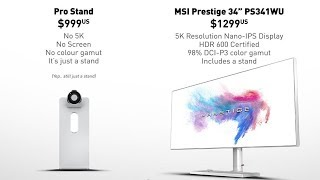 MSI Throws Shade At Apple's $1000 Pro Stand And It's Amazing