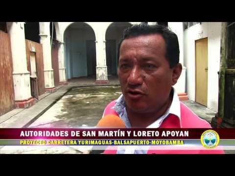 AUTORIDADES DE SAN MARTÍN Y LORETO APOYAN PROYECTO CARRETERO YURIMAGUAS-BALSAPUERTO-MOYOBAMBA