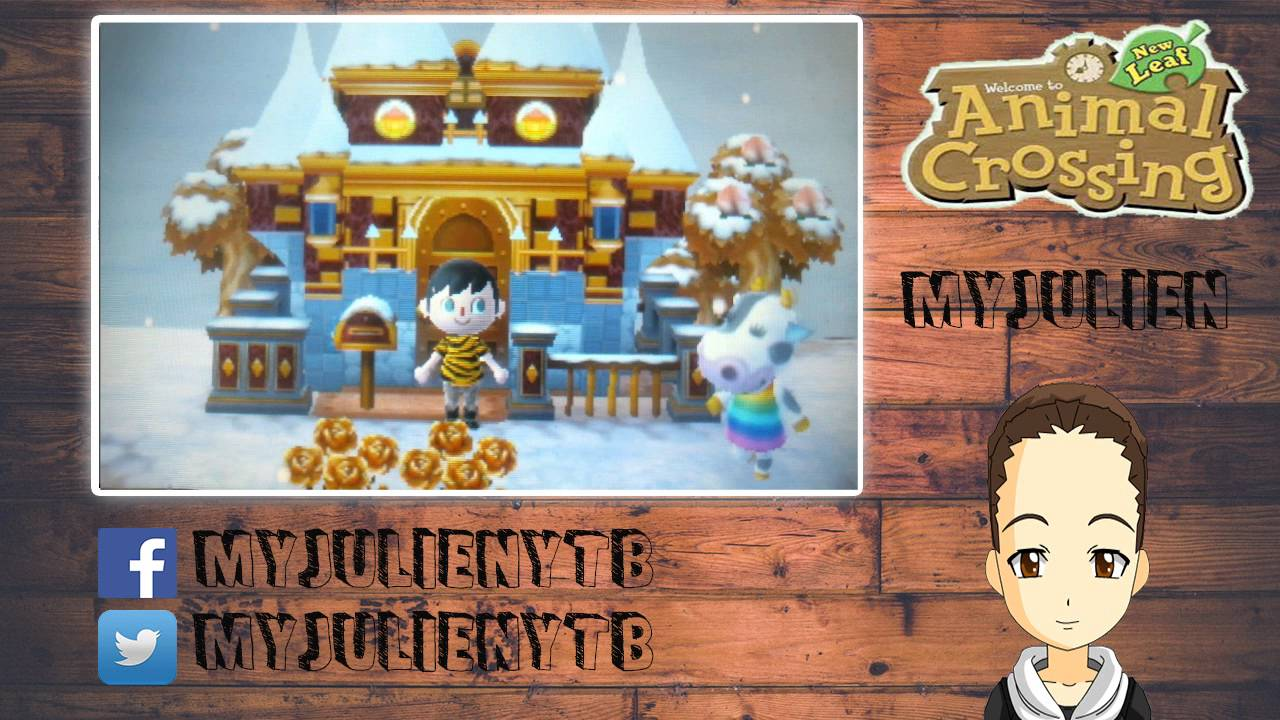 Animal crossing new leaf la maison en or youtube for Agrandissement maison animal crossing wii