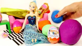 Frozen Easter Egg Hunt PLAY DOH Kinder Surprise Eggs Starring Disney Frozen Anna and Elsa