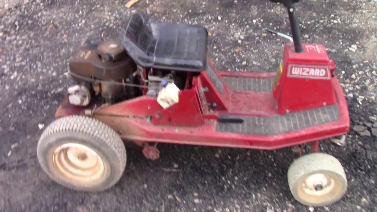 Scrapyard built racing mower