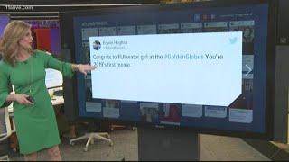 'Fiji Water Girl' goes viral after Golden Globes