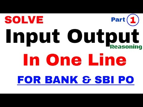 Machine input output reasoning for bank po Solve in One Line | In Hindi