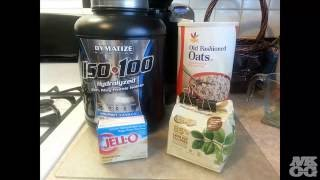 Nkog - Peanut Butter/oats/pudding/protein Shake (120g Protein/under 1,000 Calories)