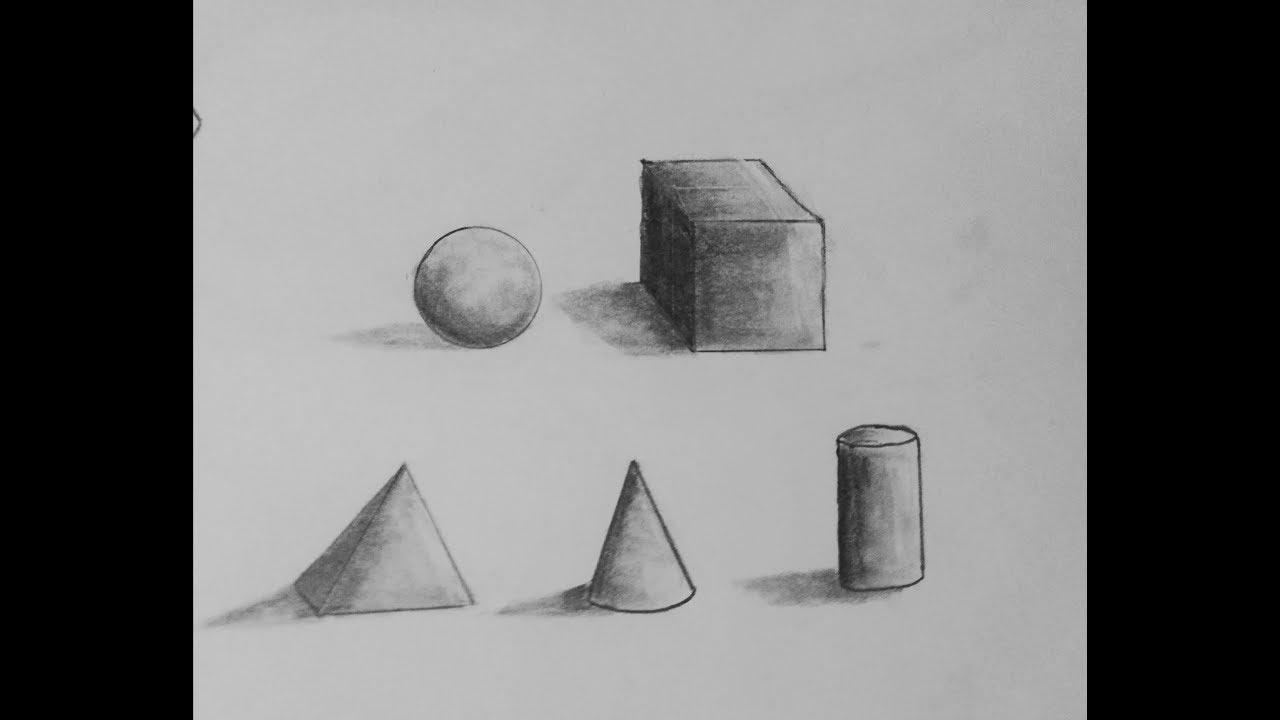 طريقة رسم أشكال هندسية ثلاثية الأبعاد Youtube