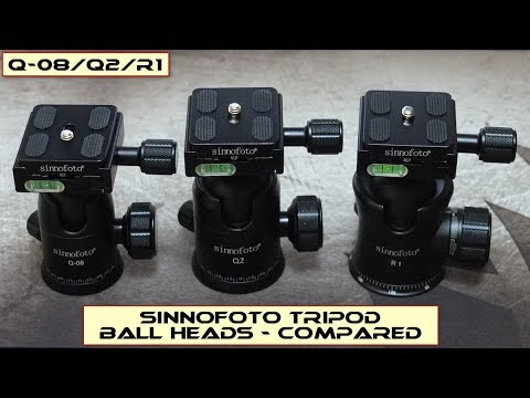 Sinnofoto Tripod Ball Heads: Q08/Q2/R1 - Compared