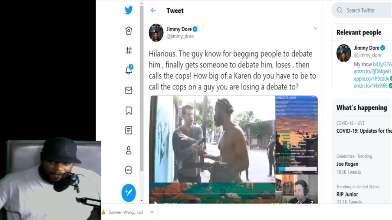 Steven Crowder Tries Change My Mind with Black Painter & Instead Calls the Cops