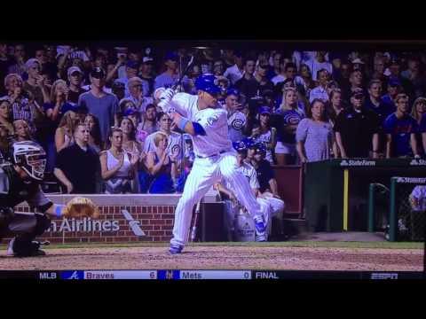 Chicago Cubs Wilson Contreras hits home run first at bat