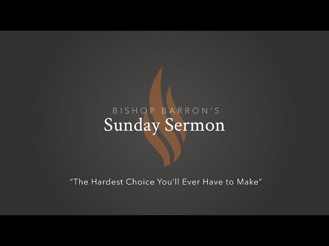 The Hardest Choice You'll Ever Have to Make — Bishop Barron's Sunday Sermon