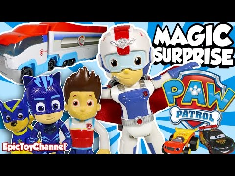 Thumbnail: PAW PATROL Magic Surprise Paw Patroller, NEW Air Rescue Ryder Disney Cars Toys & PJ Masks ToysReview