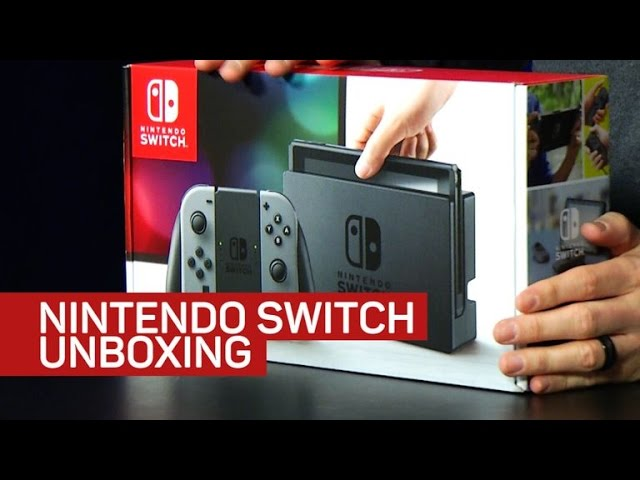 Let's unbox the Nintendo Switch and some of its accessories