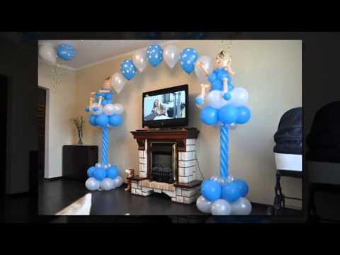 Cмотреть видео как украсить квартиру на выписку из роддома