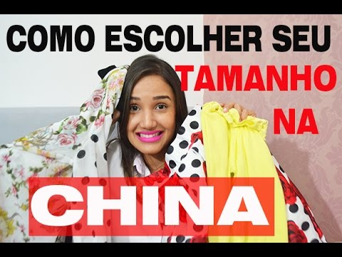 8a67e9e86 Dicas TAMANHOS de roupas CHINA ALIEXPRESS - YouTube