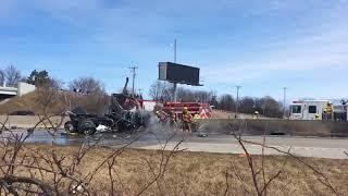 SB I-75 shut down at Salzburg near Bay City after semi hits bridge