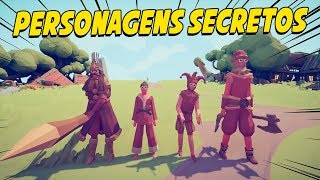 NOVOS PERSONAGENS SECRETOS - Totally Accurate Battle Simulator TABS