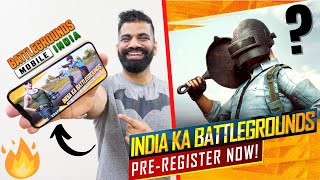 BATTLEGROUNDS MOBILE INDIA Pre-Registration | Gameplay, Features & Rewards🔥🔥🔥