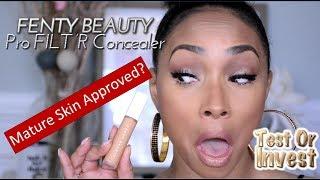Fenty Beauty Pro FILT'R Concealer Try On Review| Mature Skin Wear Test