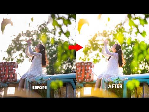 Cách chỉnh ảnh chân dung trắng hồng, trong trẻo ngược nắng đẹp nhất trên Camera Raw