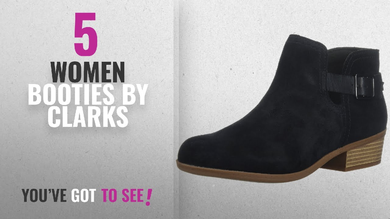 22db13b6 Top 10 Clarks Women Booties [2018]: Clarks Women's Addiy carisa Ankle Boot,  Black Suede, 8 Medium US