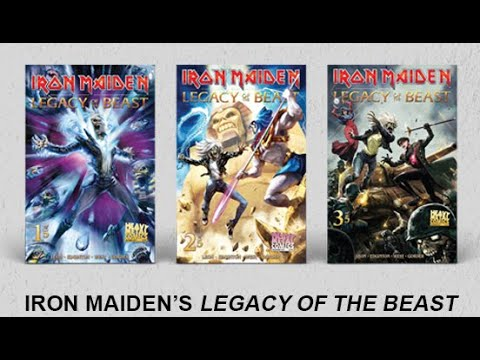 IRON MAIDEN Legacy of the Beast comics Volumes 1 and 2 out now!