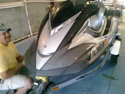 Seadoo Jet Boat >> Jet ski Fiberglass Repair and Painting at American Boat Works 727-942-4152 - YouTube