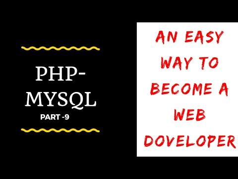 PHP - MYSQL Tutorial Part -9   Compelete Web development course   By Onlinewebpathshala