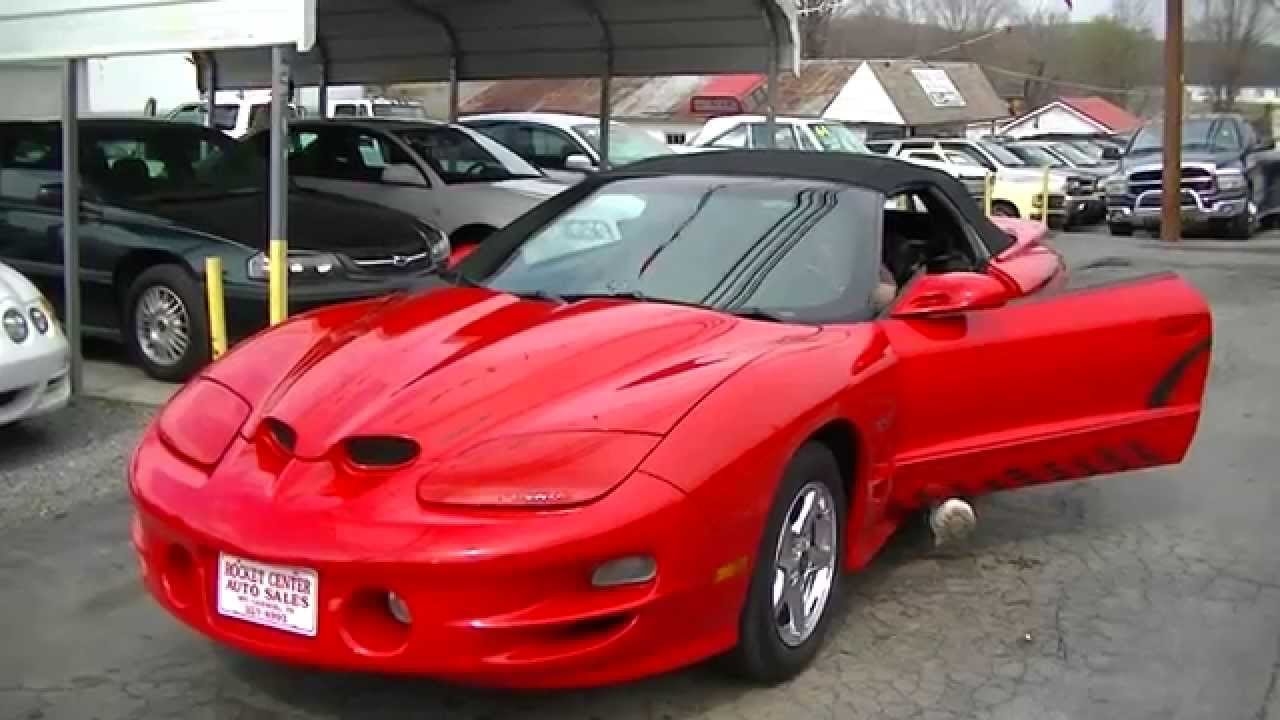 2000 pontiac ws6 trans am ram air convertible for sale on ebay motors youtube. Black Bedroom Furniture Sets. Home Design Ideas