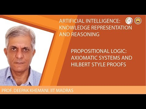 Propositional Logic: Axiomatic Systems and Hilbert Style Proofs