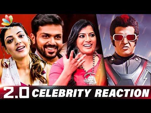 Out of the World Film : Celebrity Reaction & Review for 2.0   Varalakshmi, Karthi & Kajal Agarwal