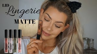 NEW!!! NYX LID LINGERIE MATTE | Swatches, Demo and Review