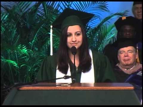 Binghamton University Commencement  - Victoria Tagarelli - Undergraduate Student Speaker