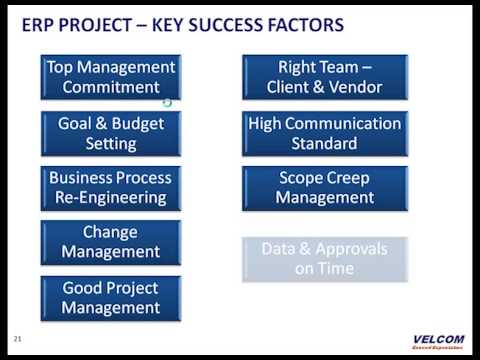 ERP Project Key Success Factors