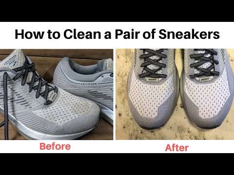 How to clean a pair of athletic running shoes - Brooks Levitate