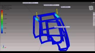 Analiza przemieszczeń kabiny ciągnika w programie Inventor Professional
